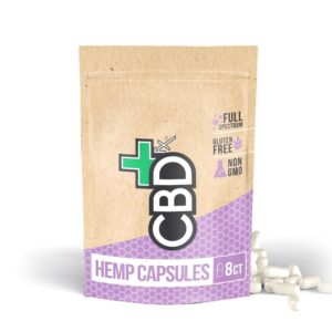 Organic Hemp Capsules (8ct) – 200mg CBD – CBDfx