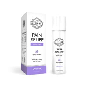 Hemp-Infused Pain Relief Roll-On (Lavender Scent) – 100mg CBD – Elixicure
