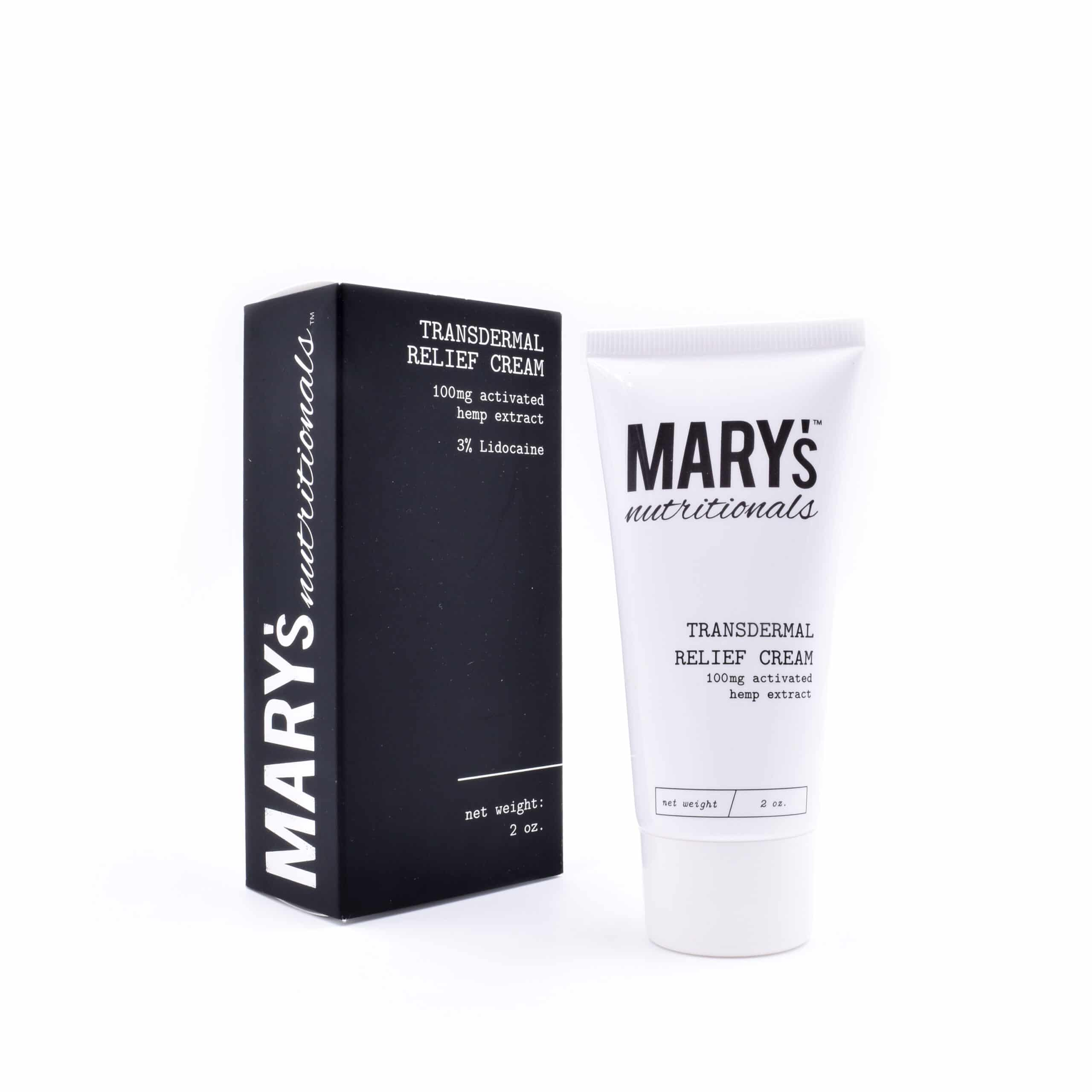 Transdermal Relief Cream – 100mg CBD – Mary's Nutritionals