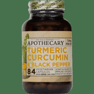 Inflammation & Immunity Support | CBD + Turmeric Capsules 84ct