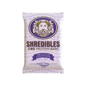 Dark Chocolate Blueberry Almond Protein Bar – 20mg CBD – Shredibles