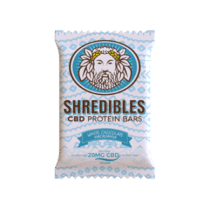 White Chocolate Macadamia Nut Protein Bar – 20mg CBD – Shredibles