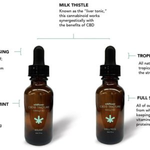 Wildflower 500mg CBD+ Tropical Fruit Wellness Tincture