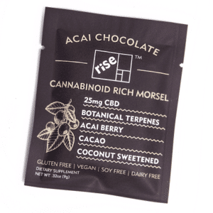 Acai Dark Chocolate 25mg CBD Morsel by Rise Relief