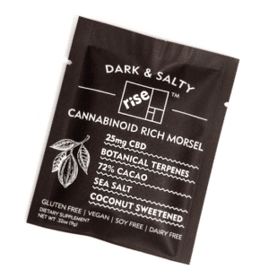 Dark & Salty 25mg CBD Morsel by Rise Relief (5 Pack)