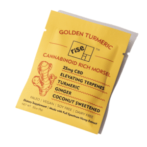 Golden Turmeric 25mg CBD Morsels by Rise Relief (5 Pack)