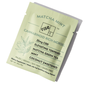 Matcha Mint 25mg CBD Morsels by Rise Relief