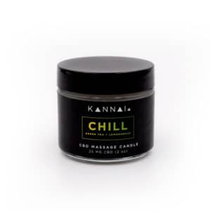 Chill 25mg CBD Massage Oil Candle by Kannai