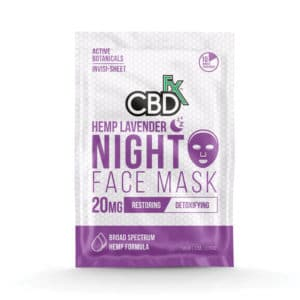 Lavender Night Time CBD Face Mask by CBDfx (3 Pack)