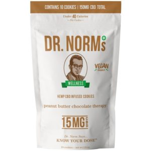 Peanut Butter Vegan CBD Cookies by Dr. Norms (Moist + Delicious)