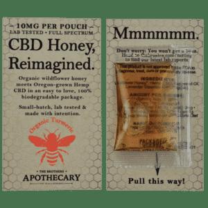 Brother's Apothecary 10mg CBD Organic Orange Turmeric Honey (3 Pack)