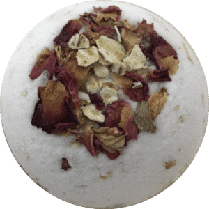 Vanilla Rose & Oats 50mg CBD Bath Bomb by LIIV Organics (2 Pack)