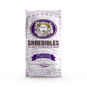 Dark Chocolate Blueberry Almond Plant Based Protein Bar by Shredibles (12 Pack)